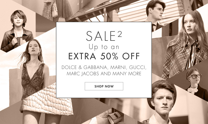 Save up to 50% off on slected fashion brands including Dolce & gabbana, Marni, Gucci, Marc jacobs and many more at Yoox.