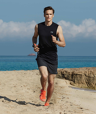 Run on the beach
