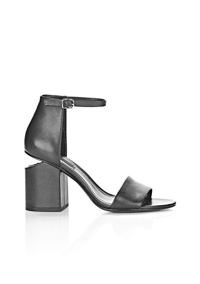 ALEXANDER WANG ABBY SANDAL WITH RHODIUM Heels Adult 12_n_f ...