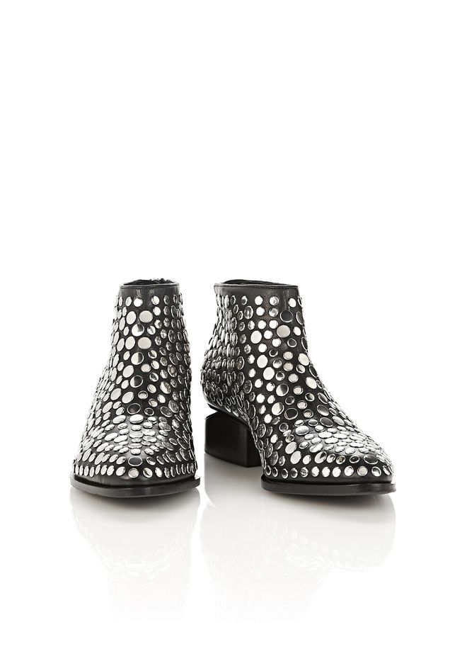 ALEXANDER WANG STUDDED KORI OXFORD WITH RHODIUM BOOTS Adult 12_n_a