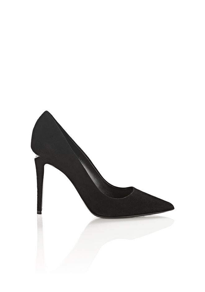 ALEXANDER WANG TIA SUEDE HIGH HEEL PUMP WITH RHODIUM Heels Adult 12_n_f