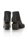 ALEXANDER WANG GABI BOOTIE WITH YELLOW GOLD BOOTS Adult 8_n_r