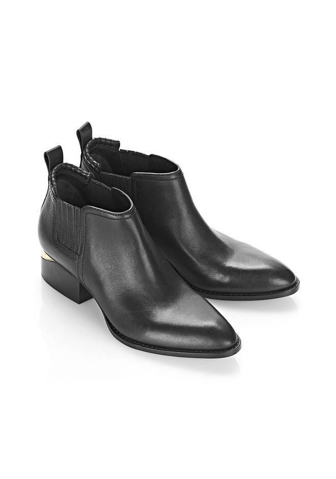 ALEXANDER WANG KORI OXFORD WITH YELLOW GOLD BOOTS Adult 12_n_e