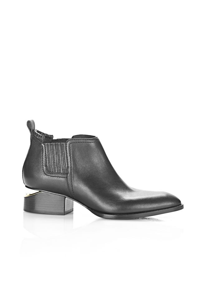 ALEXANDER WANG KORI OXFORD WITH YELLOW GOLD BOOTS Adult 12_n_f