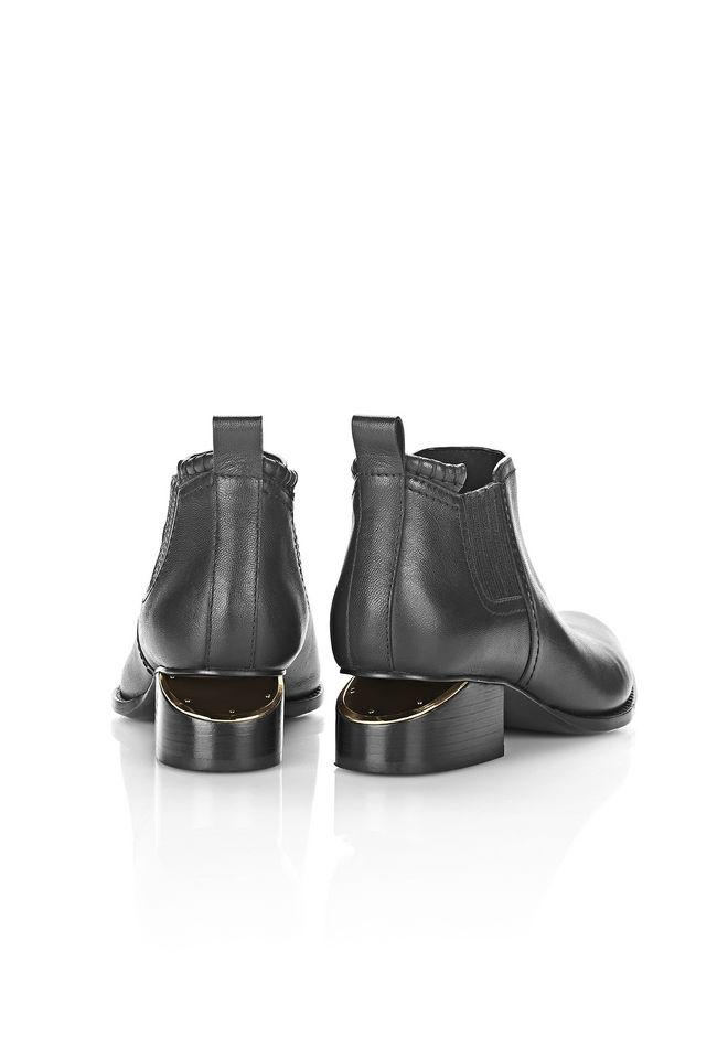 ALEXANDER WANG KORI OXFORD WITH YELLOW GOLD BOOTS Adult 12_n_r