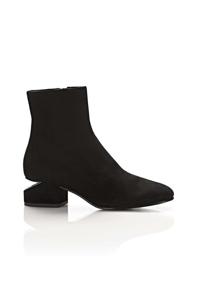 ALEXANDER WANG KELLY SUEDE BOOT WITH RHODIUM BOTTES Adult 12_n_f ...