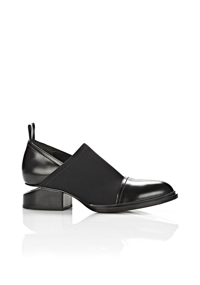 ALEXANDER WANG NEOPRENE KORI OXFORD WITH RHODIUM BOOTS Adult 12_n_f