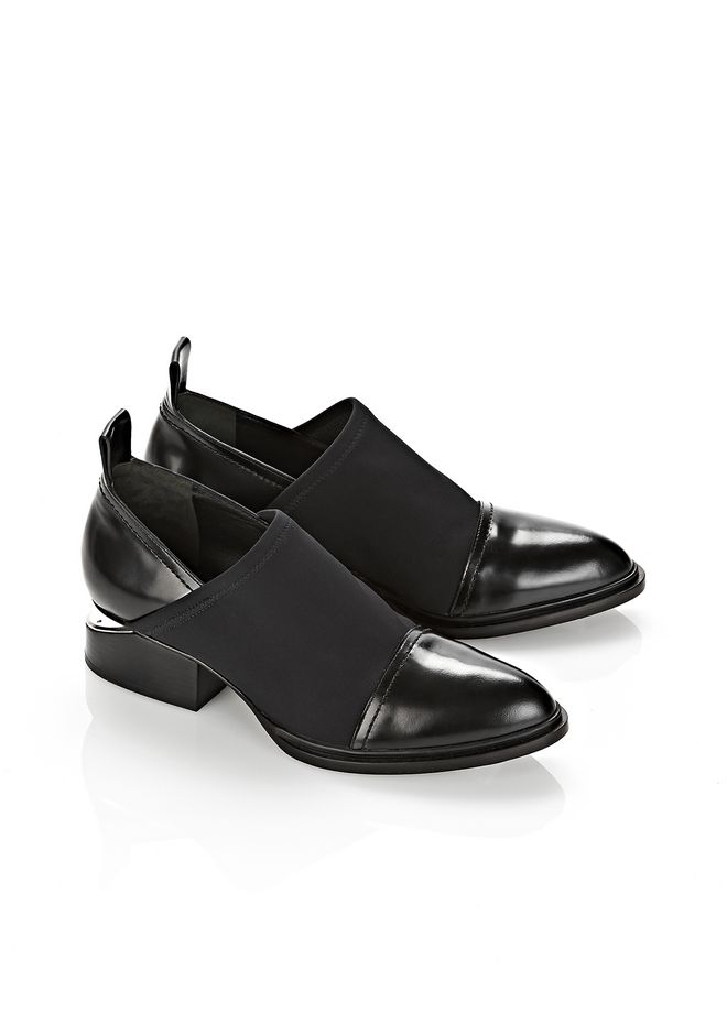 ALEXANDER WANG NEOPRENE KORI OXFORD WITH RHODIUM BOOTS Adult 12_n_r