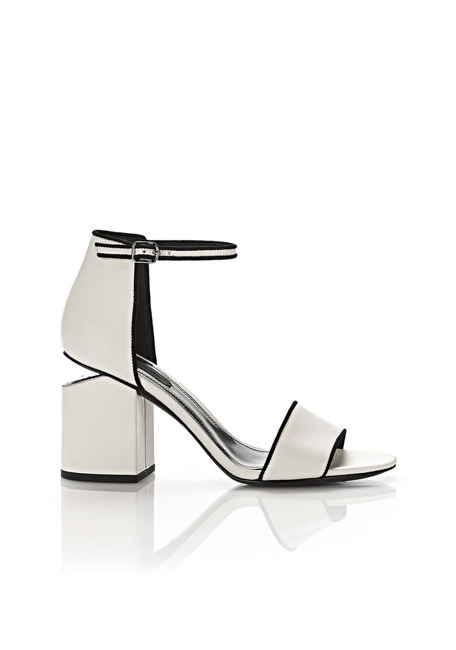 ALEXANDER WANG ABBY SANDAL WITH RHODIUM Heels Adult 12_n_f