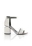 ALEXANDER WANG ABBY SANDAL WITH RHODIUM Heels Adult 8_n_f