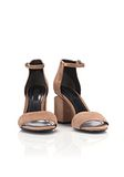 ALEXANDER WANG ABBY SUEDE SANDAL WITH RHODIUM Heels Adult 8_n_a