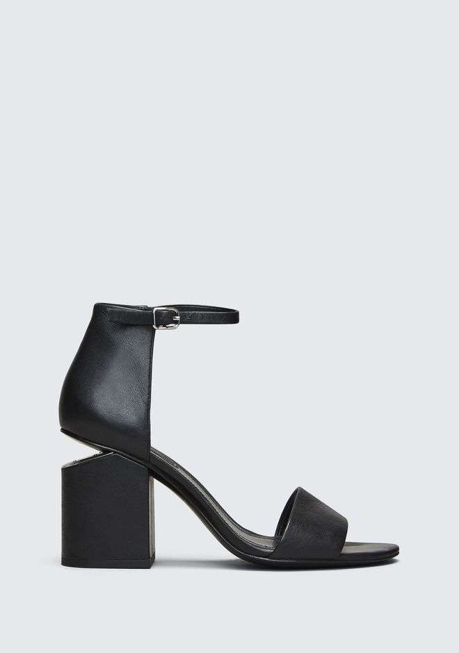 ALEXANDER WANG ABBY SANDAL WITH RHODIUM Talons Adult 12_n_f
