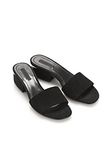 ALEXANDER WANG LOU SUEDE SANDAL WITH RHODIUM FLATS Adult 8_n_r