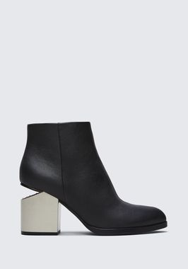 GABI BOOTIE WITH SILVER METAL HEEL