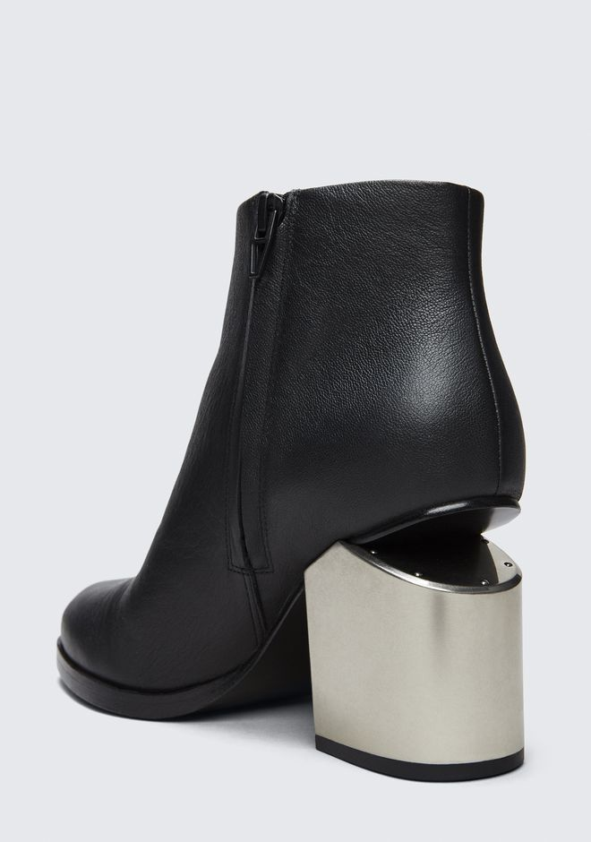 ALEXANDER WANG GABI BOOTIE WITH SILVER METAL HEEL BOTTES Adult 12_n_a