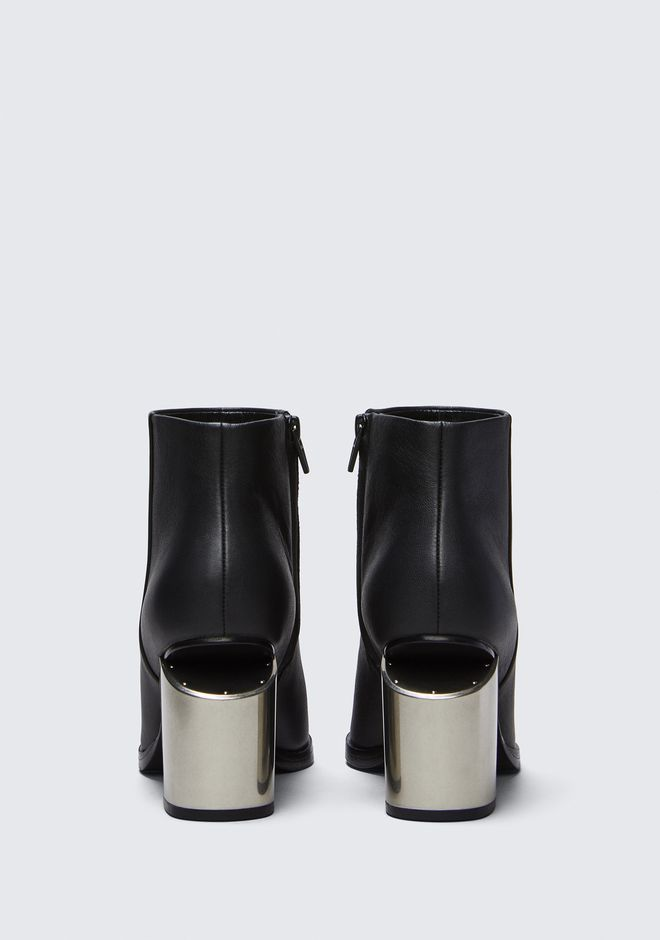 ALEXANDER WANG GABI BOOTIE WITH SILVER METAL HEEL BOTTES Adult 12_n_d