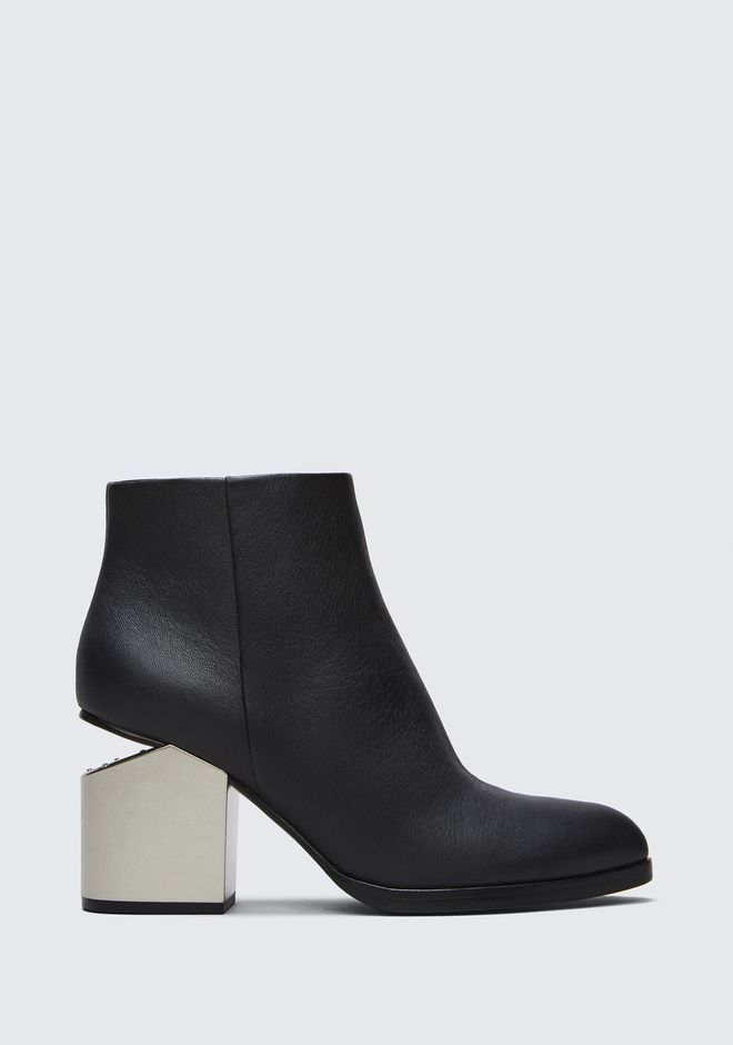 ALEXANDER WANG GABI BOOTIE WITH SILVER METAL HEEL BOTTES Adult 12_n_f