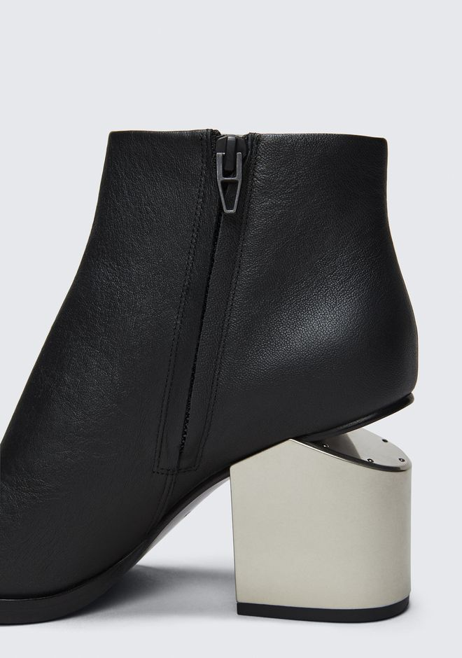 ALEXANDER WANG GABI BOOTIE WITH SILVER METAL HEEL BOTTES Adult 12_n_r