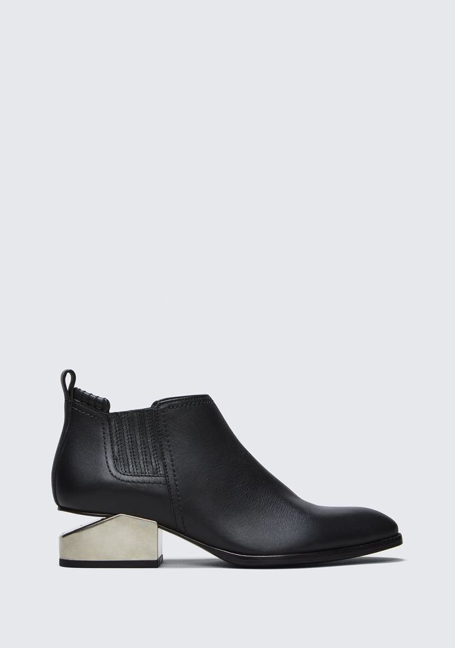 ALEXANDER WANG KORI OXFORD WITH SILVER METAL HEEL BOOTS Adult 12_n_f