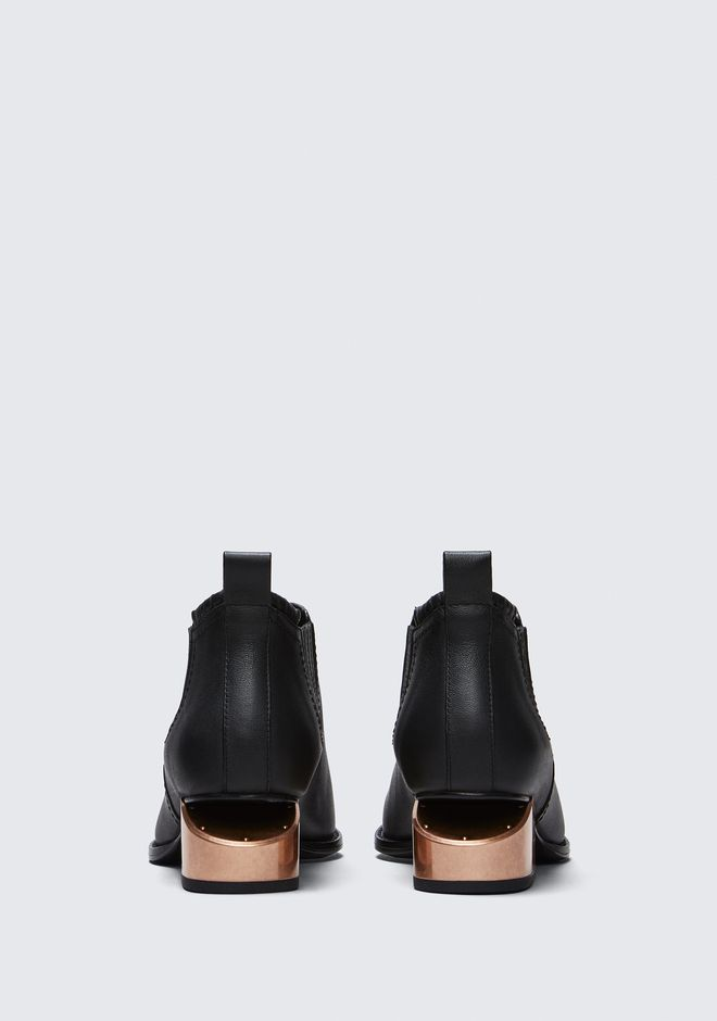 ALEXANDER WANG KORI OXFORD WITH ROSE GOLD HEEL BOOTS Adult 12_n_d