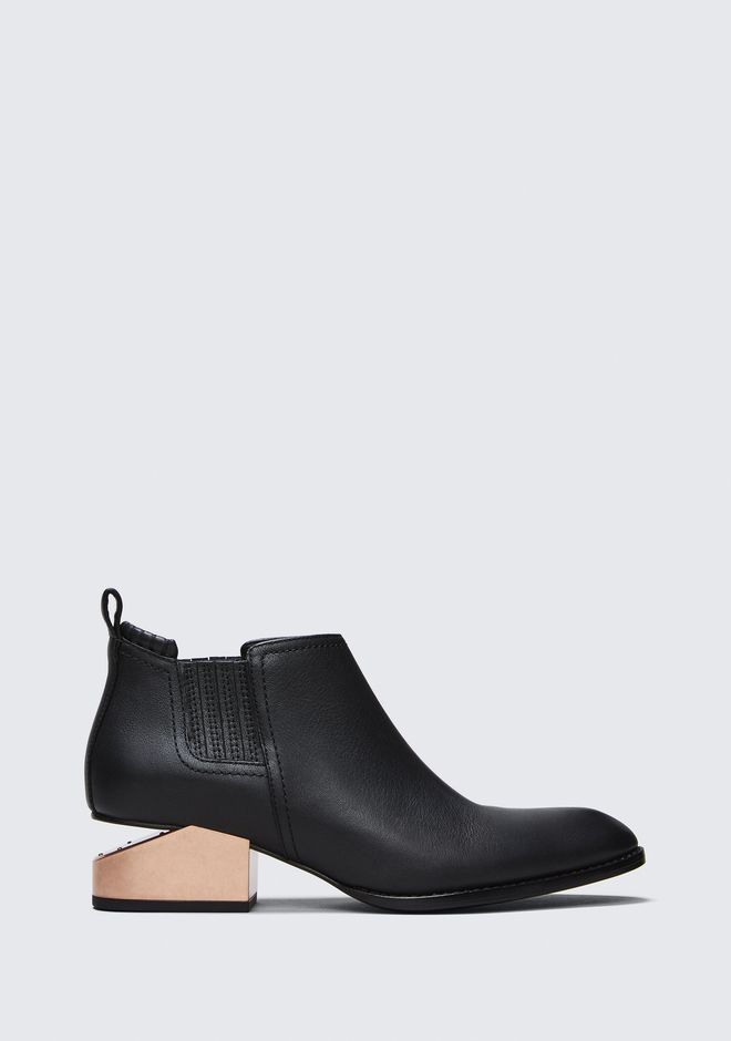 ALEXANDER WANG KORI OXFORD WITH ROSE GOLD HEEL BOOTS Adult 12_n_f