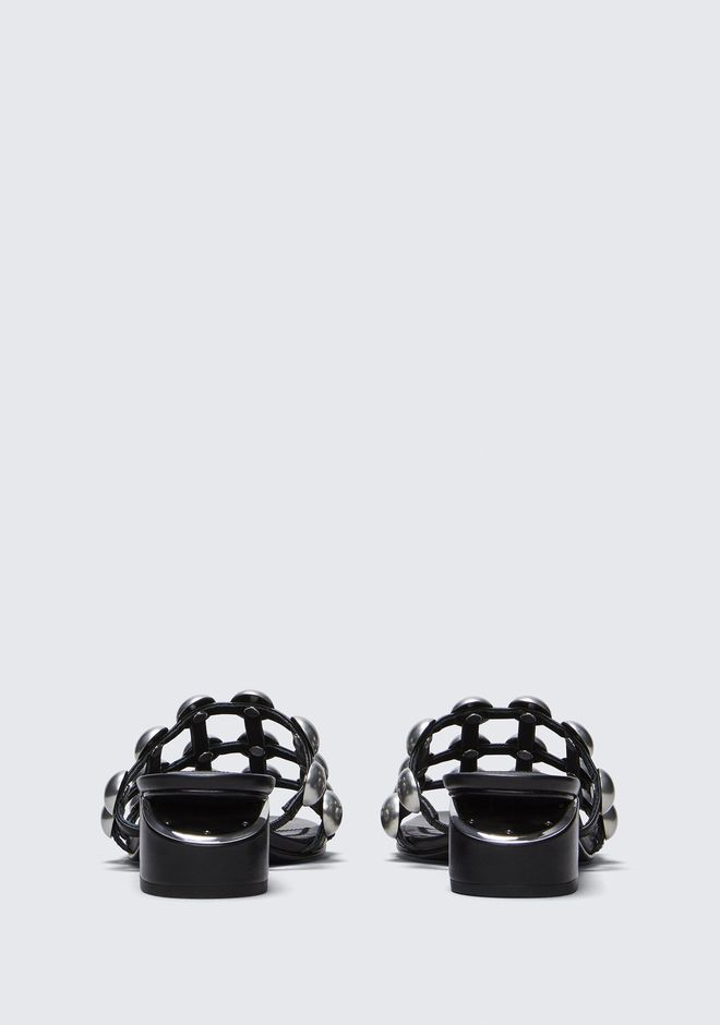 ALEXANDER WANG DOME STUD LOU WITH RHODIUM BALLERINE Adult 12_n_d