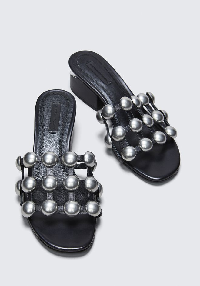 ALEXANDER WANG DOME STUD LOU WITH RHODIUM FLATS Adult 12_n_r