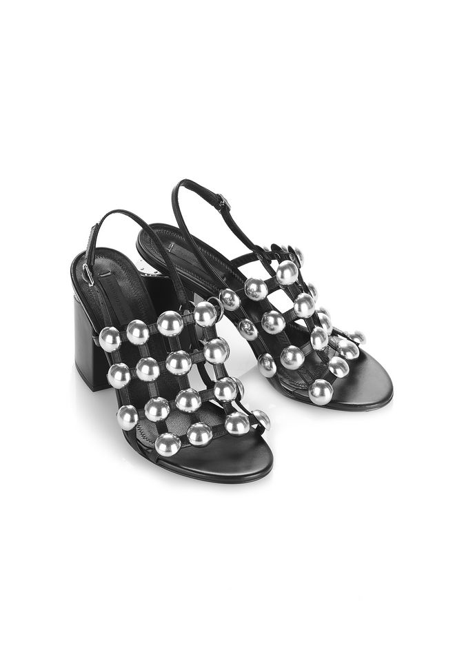 Alexander Wang 2017 Abby Dome-Studded Sandals finishline sale online clearance store cheap online new styles cheap online online store 0tZ12br9M