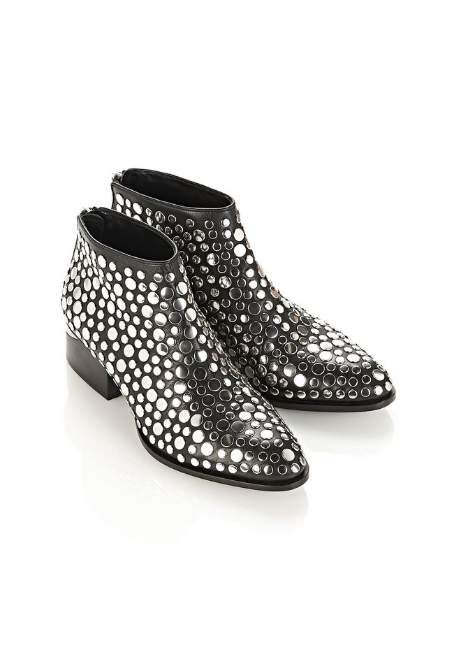 ALEXANDER WANG STUDDED KORI OXFORD WITH RHODIUM BOOTS Adult 12_n_e