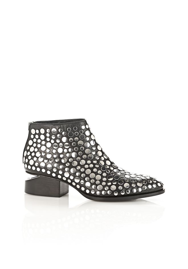 ALEXANDER WANG STUDDED KORI OXFORD WITH RHODIUM BOOTS Adult 12_n_f