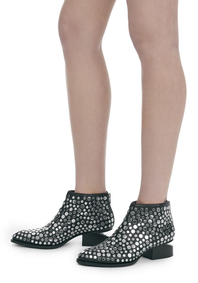 ALEXANDER WANG STUDDED KORI OXFORD WITH RHODIUM BOOTS Adult 12_n_r