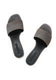 ALEXANDER WANG EXCLUSIVE LOU SUEDE SANDAL WITH RHODIUM 平底鞋 Adult 8_n_d
