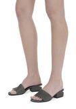 ALEXANDER WANG EXCLUSIVE LOU SUEDE SANDAL WITH RHODIUM 平底鞋 Adult 8_n_r