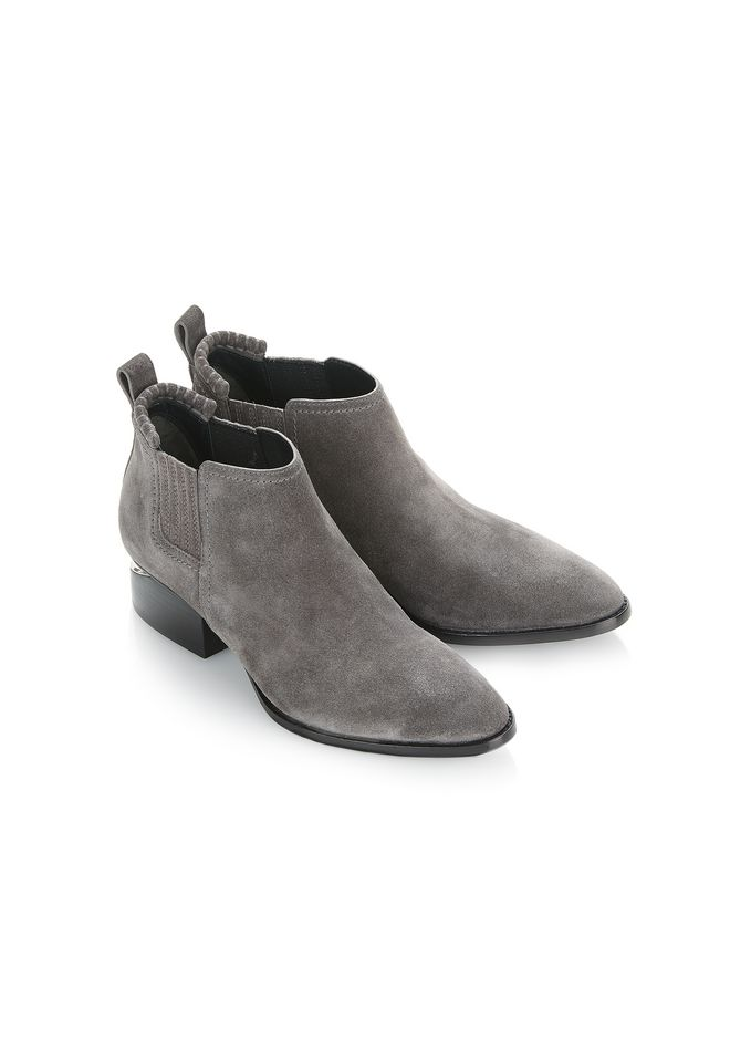 ALEXANDER WANG KORI SUEDE OXFORD WITH RHODIUM BOOTS Adult 12_n_e