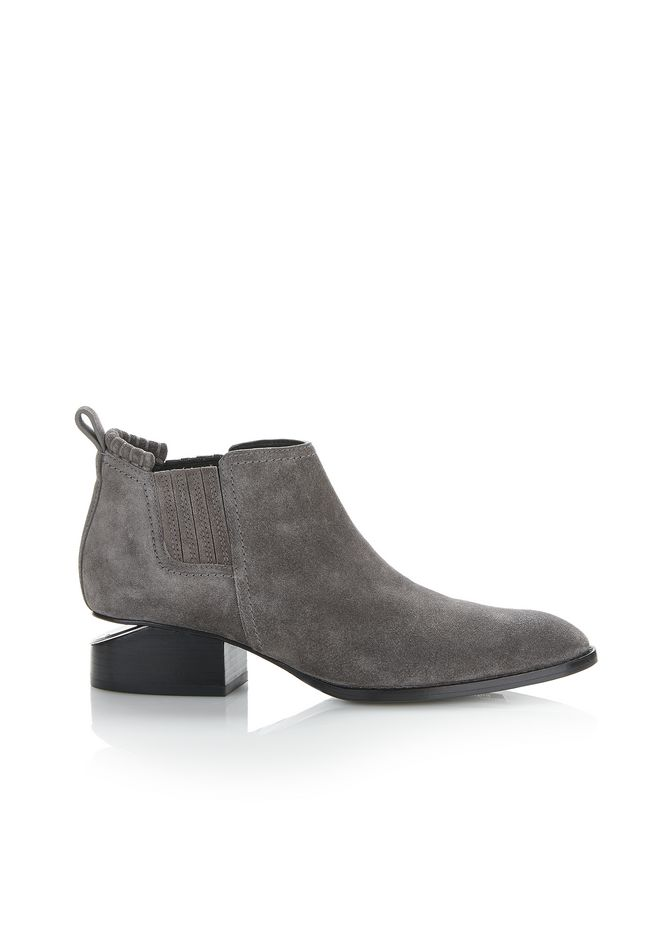 ALEXANDER WANG KORI SUEDE OXFORD WITH RHODIUM BOOTS Adult 12_n_f