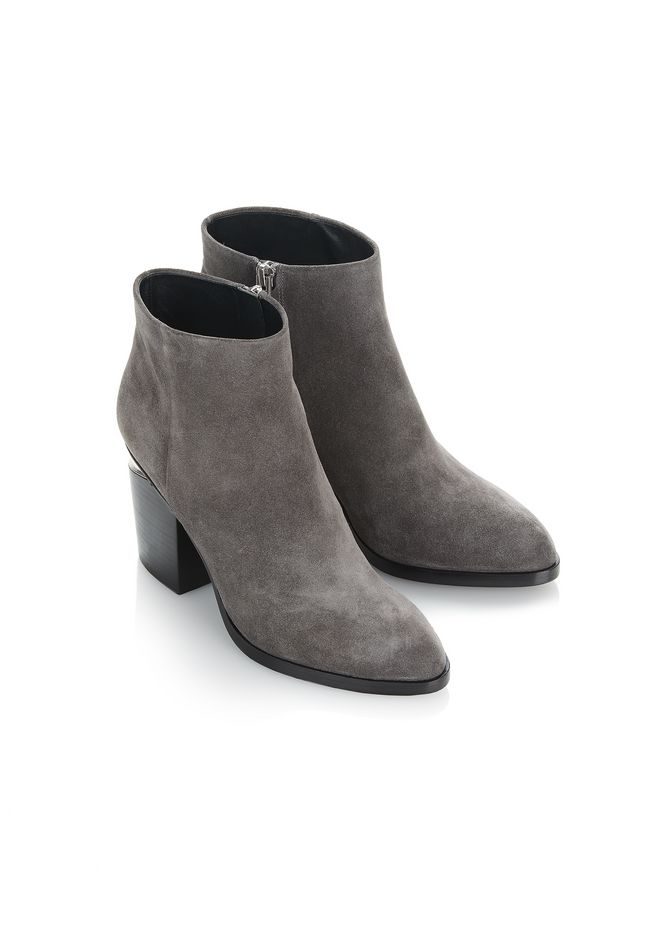 ALEXANDER WANG GABI SUEDE BOOTIE WITH RHODIUM 靴子 Adult 12_n_e