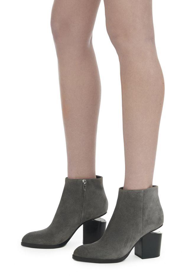 ALEXANDER WANG GABI SUEDE BOOTIE WITH RHODIUM 靴子 Adult 12_n_r