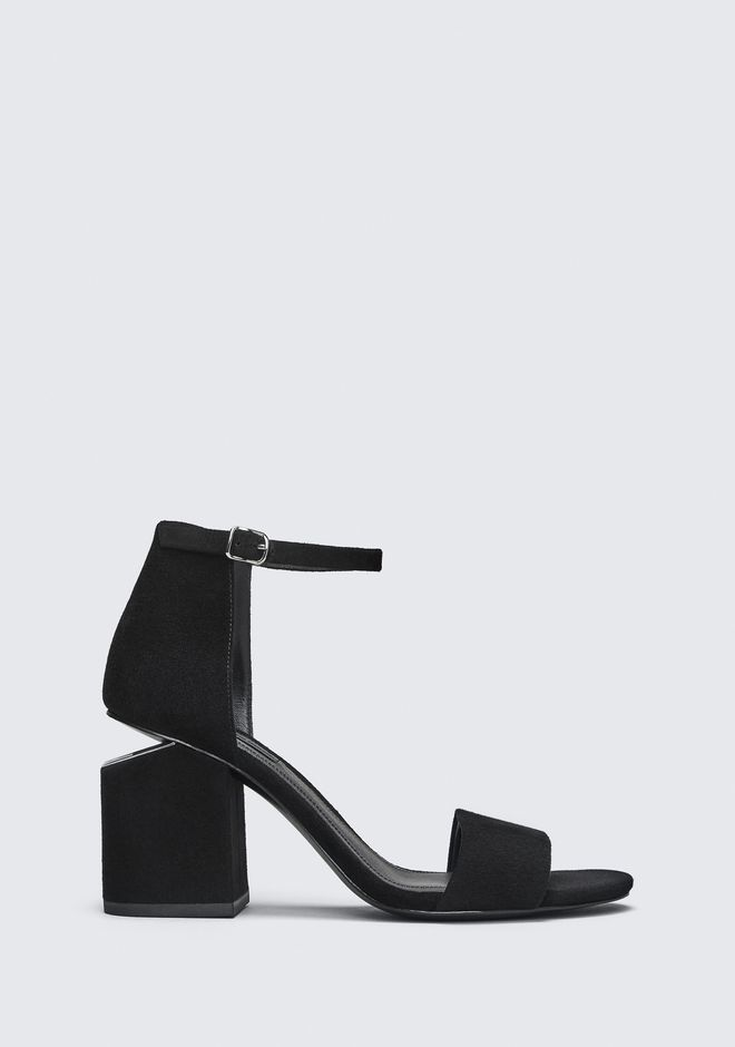 ALEXANDER WANG sandals ABBY SUEDE SANDAL WITH RHODIUM