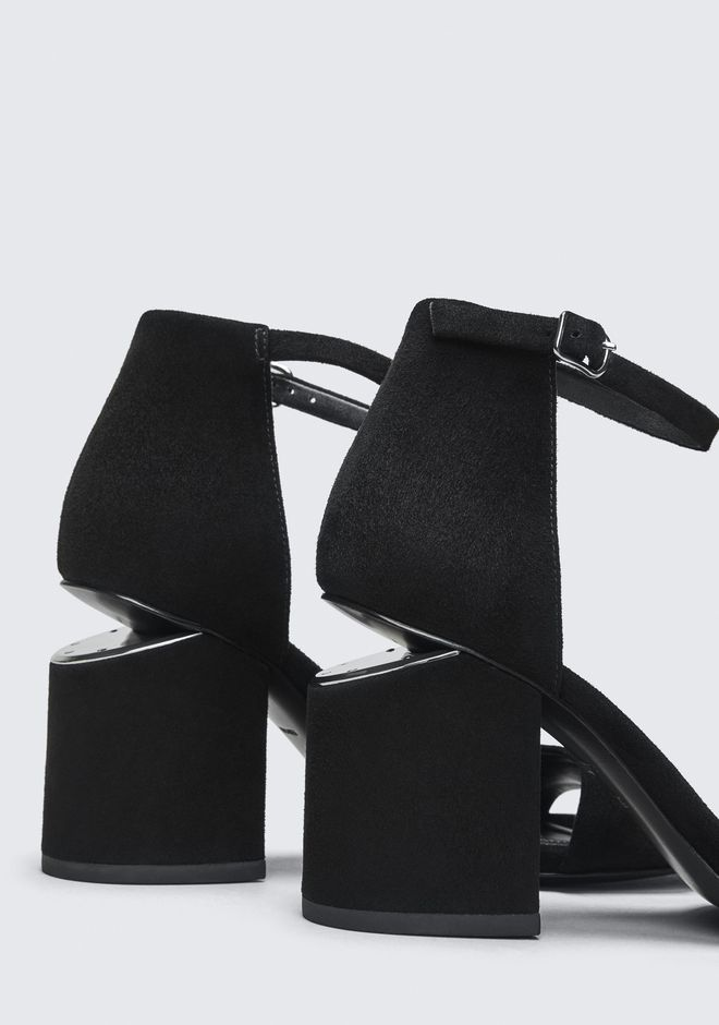 ALEXANDER WANG ABBY SUEDE SANDAL WITH RHODIUM Heels Adult 12_n_r