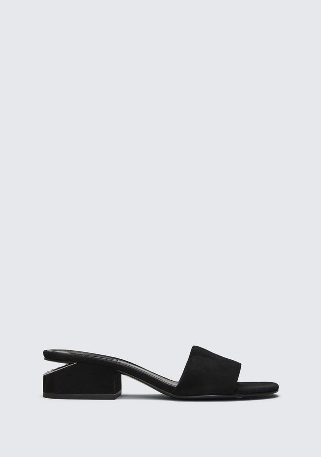 ALEXANDER WANG sandals LOU SUEDE SANDAL WITH RHODIUM