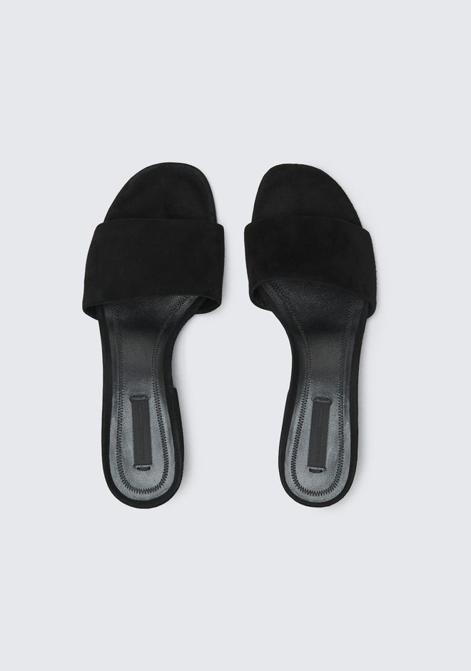 ALEXANDER WANG LOU SUEDE SANDAL WITH RHODIUM 平底鞋 Adult 12_n_e