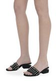 ALEXANDER WANG STUDDED LOU SUEDE SANDAL FLATS Adult 8_n_r
