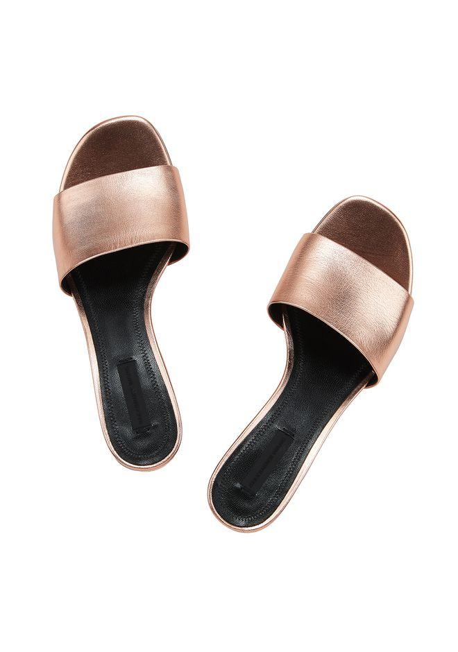 ALEXANDER WANG METALLIC LOU SANDAL  平底鞋 Adult 12_n_d