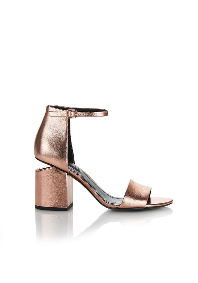 ALEXANDER WANG Heels ABBY METALLIC SANDAL WITH ROSE GOLD