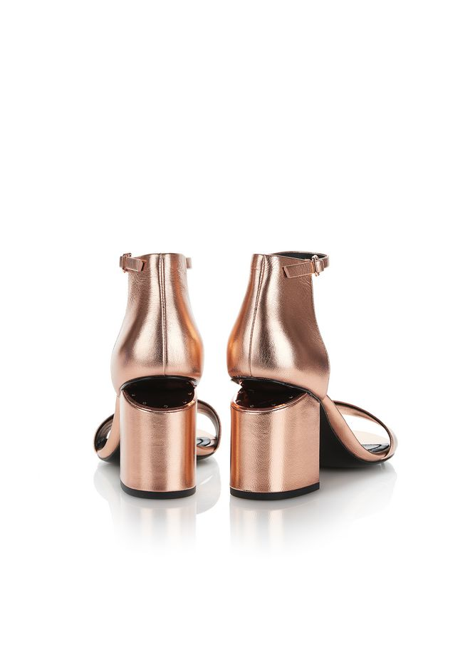 ALEXANDER WANG ABBY METALLIC SANDAL WITH ROSE GOLD  中跟鞋 Adult 12_n_a