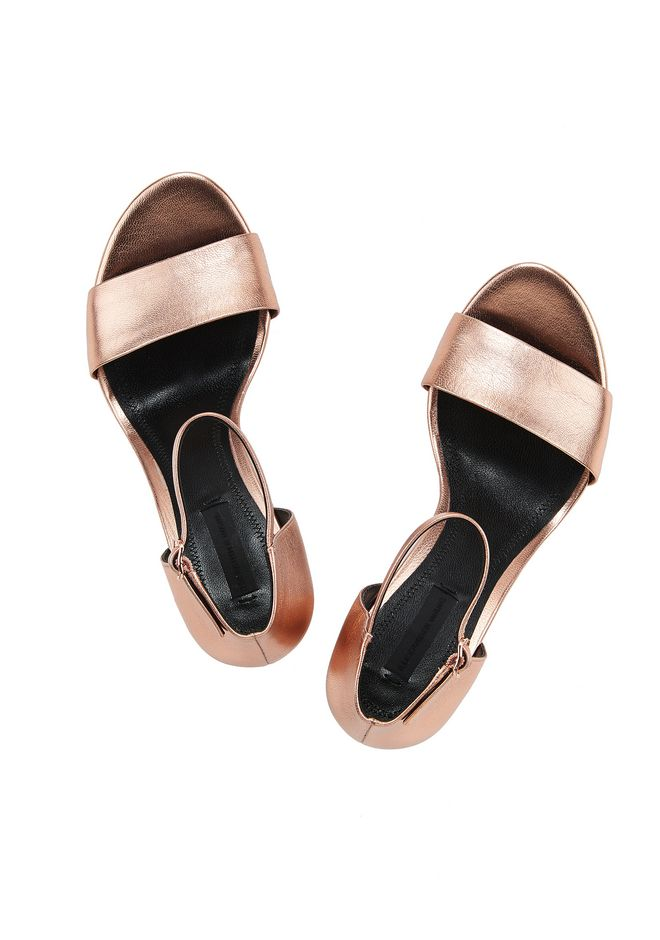 ALEXANDER WANG ABBY METALLIC SANDAL WITH ROSE GOLD  中跟鞋 Adult 12_n_d