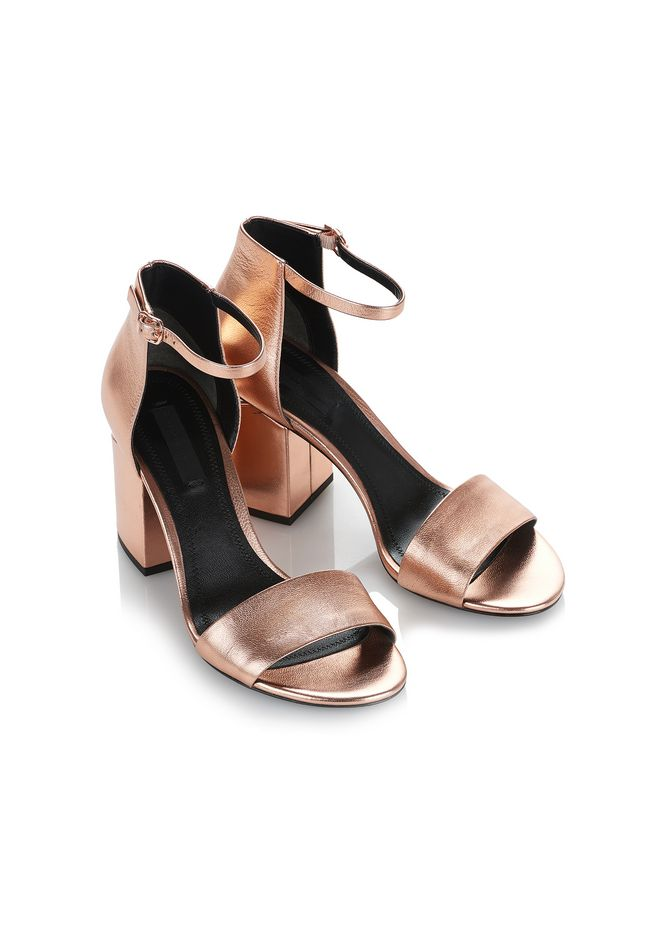 ALEXANDER WANG ABBY METALLIC SANDAL WITH ROSE GOLD  中跟鞋 Adult 12_n_e