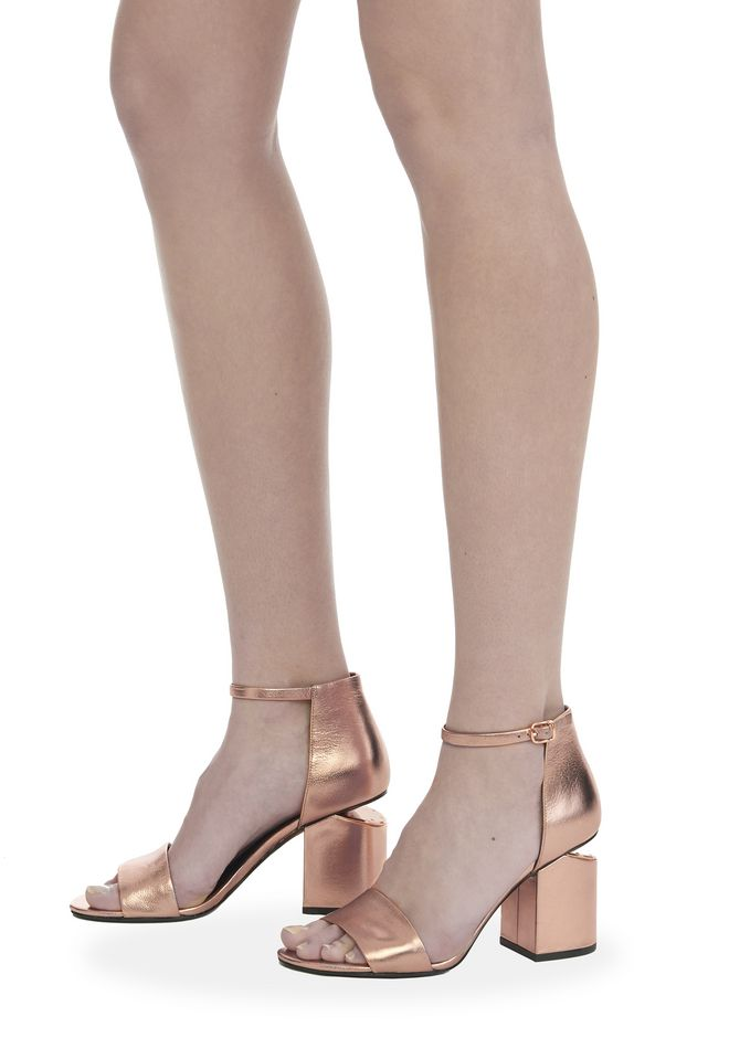 ALEXANDER WANG ABBY METALLIC SANDAL WITH ROSE GOLD  中跟鞋 Adult 12_n_r