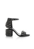 ALEXANDER WANG STUDDED ABBY SUEDE SANDAL WITH RHODIUM  中跟鞋 Adult 8_n_f