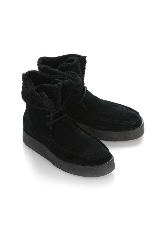 ALEXANDER WANG NOAH SUEDE BOOT WITH SHEARLING  BOOTS Adult 12_n_d